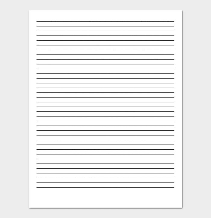 دانلود کاغذ خط دار ساده مرسوم word