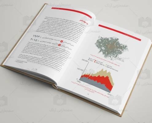نمونه صفحه آرایی کتاب رنگی