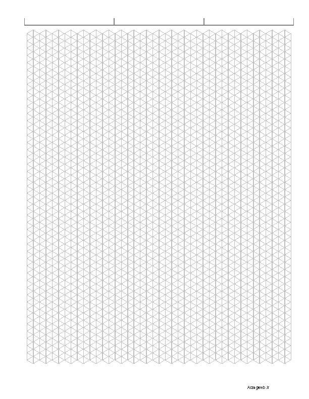 دانلود صفحه ایزومتریک برای چاپ