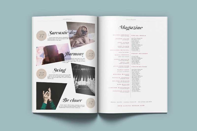 حفظ تعادل در طراحی صفحات داخلی مجله