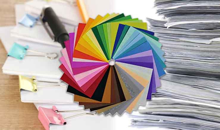 کاغذهای رنگی برای چاپ