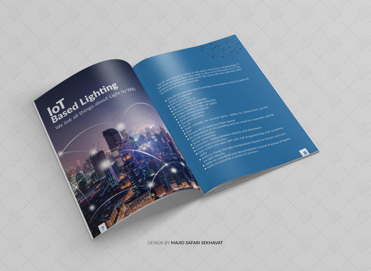 نمونه کار طراحی کاتالوگ حرفه ای صنعتی تبلیغاتی و صادراتی شرکت نبکا در فتوشاپ