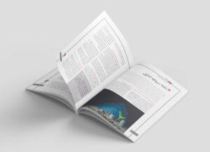 نمونه کار صفحه آرایی مجله با موضوع برندینگ و صنعت و بازار