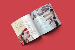 نمونه کار طراحی مجله، بروشور یا کاتالوگ ویژه نامه آموزش فروشندگان مد ایرانی و فشن